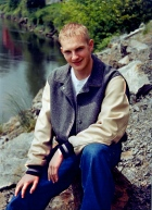 Jason's senior picture, taken by Jenna, by the Snohomish River